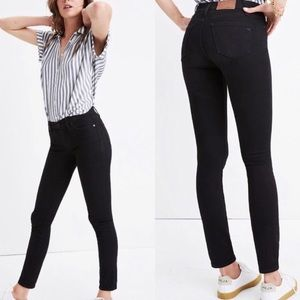Madewell Skinny Skinny Black Sateen Jeans